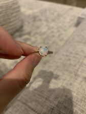 Opal Rose Gold Ring Size 6.75