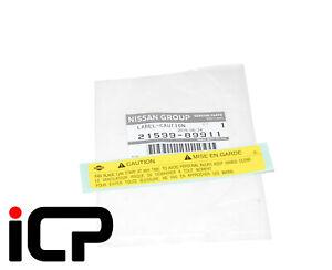 New Genuine Radiator Fan Caution Label For Nissan 200sx S14 Sunny Pulsar GTI-R