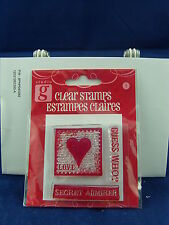 NEW STUDIO G CLEAR STAMP SET LOVE GUESS WHO SECRET ADMIRER VALENTINES DAY VC0037