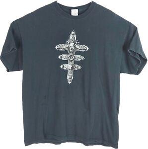 Mens Black I, Frankenstein Movie Promo Aaron Eckhart Spell Out T-Shirt Sz XL