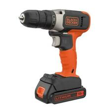 Black & Decker Cordless Drill Driver 18V Battery + Charger  BCD001C1-GB A19
