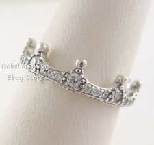 ENCHANTED CROWN Authentic PANDORA Silver Ring 197087CZ Sz 7.5 (56) NEW w POUCH!