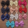 Girls Kids Sequin Sparkle Bow Bowknot Hair Clip Alligator Clip Headdress