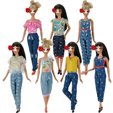 Fashion Princess Party Tops + Pants Clothes Outfit For 11 inch Barbie Doll Gifts