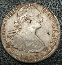 1803 FT Mexico 8 Reale Counterstamped Coin Rare Grade US First Silver $1 Coin