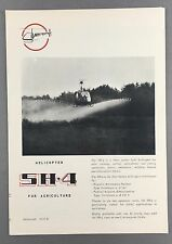 SILVERCRAFT SH-4 FOR AGRICULTURE HELICOPTER MANUFACTURERS SALES BROCHURE