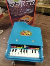 mid century BEILEI 10 key sky blue baby grand piano with box kids childs toy NOS