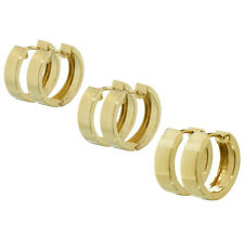 Paar klassische 333 Gelbgold Klappcreolen Ohrringe Hochglanzpoliert Damen Herren