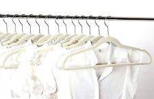 50 Pack Hangers Clothes Hangers Beige Velvet Hanger Clothing Suit Shirt New
