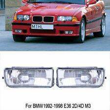 FOR BMW 92-98  E36 3 SERIES 2/4D REPLACEMENT FOG LIGHTS LAMPS CRYSTAL CLEAR LENS