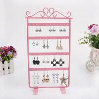 Earrings Necklace Stand Holder Rack Simple Metal Display Shelf SALE