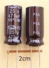 Samwha RZ Radial Electrolytic Capacitor 470uF 25V 105C (Pk of 2)