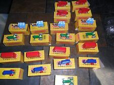 21 LOT Matchbox London Bus Fire Truck Horse Milk Tractor Matchbox Originals 1988