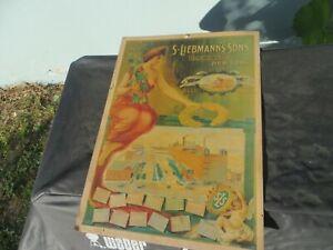 S.LIEBAMANN'S SONS BREWING CO. NEW YORK 1855-1905 CARDBOARD CALENDAR SIGN PREPRO