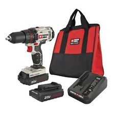 "PORTER CABLE PCC601LB 20V Max 1/2"" Lithium Ion 20 Volt 1.3 Ah Drill Driver Kit"