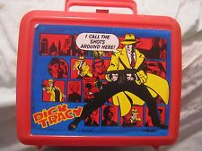 DISNEY ALADDIN DICK TRACY PLASTIC LUNCH BOX ONLY NO THERMO