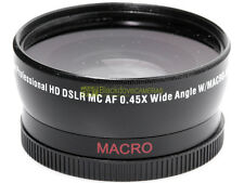 Aggiuntivo wide angle 0,45x Macro. Si innesta su obiettivi con diam. filtri 58mm