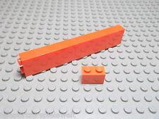 Lego 10 Basic Steine 1x2 hoch orange  3004 Set 4413 10133 6753 8634