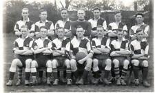 NHFC or NFC Football Team unused real photo old postcard by Fox Gloucester Good
