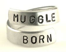 Muggle Born - Harry Potter Inspired Quote Ring- Aluminum Twist Ring