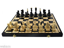 SHIPPING FREE LARGE BLACK WOODEN CHESS