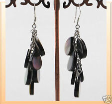 Black Shell Earrings, shell earring, fashion accessories