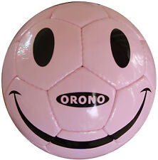 PINK SMILE HAPPY FACE SOCCER BALL  SIZE 4 Football