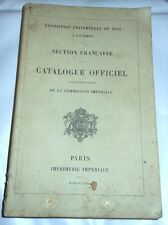 Storia - Exposition Universelle Londres 1862 - Catalogue Officiel RARO