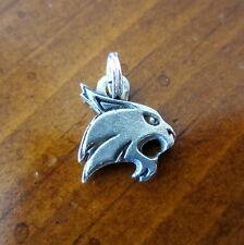new! Texas State University BOBCAT PEWTER MINI CHARM small bracelet bead jewelry