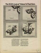 """1974 PAUL HORN """"VISIONS"""" ALBUM PROMO AD"""