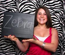 Photography Backdrop 5x9 ft Flocking Zebra Black White Background 100% Seamless
