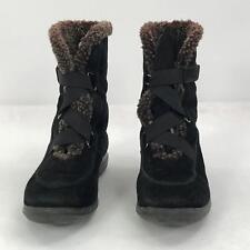 Stuart Weitzman Womens Sz 8 Snow Boots Black Winter  Velcro Calf High Round Toe