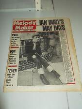 MELODY MAKER 1978 APRIL 1 IAN DURY PAUL MCCARTNEY DON WILLIAMS FEVER