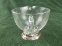 Frank M. Whiting Sterling Silver Gravy Boat - Creamer - Pitcher Etched Glass