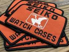 "PLEASE READ - Vintage SEIKO WATCH CASES PATCH - 2.4"" x 3.4"""