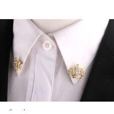 Nuovo Spilla Spille Corona Collare PIN Brooch Cristallo Per Tuta Camicia