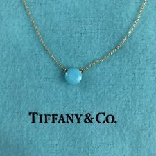 f504d3cd3c15 Tiffany Co Elsa Peretti Turquoise Faceted 1 Carat 18k Yellow Gold 16