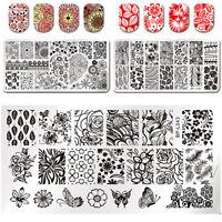 3Stk Nagel Kunst Stamping Platte Schablone Lace Blumen Motiv BORN PRETTY Neu Set