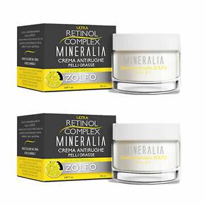 2 Pieces Retinol Mineralia Face Cream Anti-aging Oily Skin Sulfur Thermal MI-116