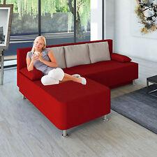 """VCM Ecksofa """"magota Rot"""" / Couch mit Schlaffunktion"""