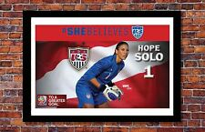 Women's World Cup Soccer | Hope Solo Poster | 11 x 17 inches