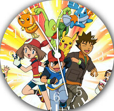 "Pokemon Pikachu wall Clock 10"" will be nice Gift and Room wall Decor E07"