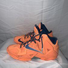 Nike Lebron XI Basketball Shoes Mens 11 FlyWire Atomic Orange Glacier Ice 616175