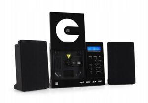 Dual Vertikal 150 Stereoanlage CD USB FM Radio SD-Card Wandmontage Stereo Schwar