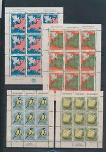 XC89312 Yugoslavia birds & butterflies peace in Europe sheets XXL MNH