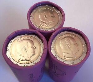 Un rouleau complet de 25 Pièces UNC de 2€ Monaco 2014 (NEUF)