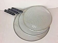 "3Pcs/Set, Splatter Screen Kitchen Cooking Cover Pan Mesh 10"", 11"", 13"" - Ne"