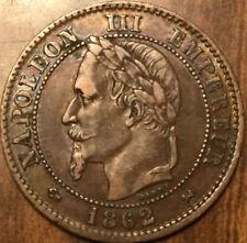 1862 K FRANCE 2 CENTIMES NAPOLEON III EMPIRE FRANÇAIS - A FANTASTIC EXAMPLE !