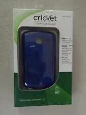 Cricket Samsung Comment 2 Soft Touch Shield Blue SKU CPC1825 Brand New
