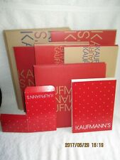 Kaufmann's Department Store 11 Empty Gift Boxes for Gift Wrapping 6 Sizes New